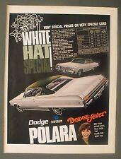 1968 Dodge Polara Chrysler 10 1/2 x 13 3/4 Large White Promo Car Trade Photo Ad
