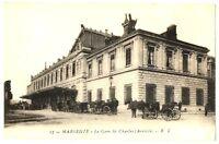 CPA 13 Bouches-du-Rhône Marseille La Gare St Charles calèches