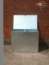 LARGE GALVANISED FEED BINS WITH TWO COMPARTMENTS. HORSE,CHICKEN ,FEED ,GRAIN.