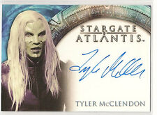 Stargate Heroes Atlantis Auto Tyler McClendon K. Wraith