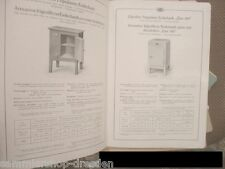 VEWAG Eschebach GLACIERES pour Besoins Domestiques Katalog 1929 Musterbuch 70A m