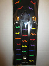 SUSPENDERS WITH DIFFERENT COLORS MUSTACHE'S  SUSPENDERS PUNK ROCK EMO GOTHIC