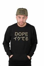DOPE Men's Loose Translation Crewneck Black NWT