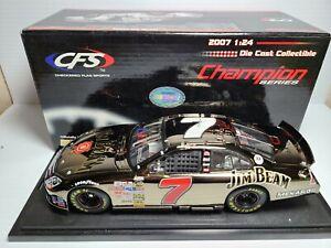 2007 Robby Gordon #7 Jim Beam Black Liquid Chrome Ford 1:24 NASCAR CFS MIB