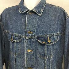 Vintage LEE Riders Trucker Jacket Sz XL Denim Blue Jean Distressed USA 153438