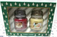 Yankee Candle 14.5 oz set in box Sparkling Cinnamon and Christmas Cookie