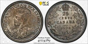 1934 25 Cents Canada MS-63 PCGS - PRICE REDUCED!!!