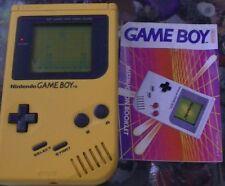 Nintendo Gameboy Original (Yellow) (DMG-01) 30 DAYS WARRANTY.