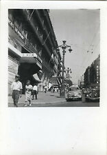 PHOTO ANCIENNE - VINTAGE SNAPSHOT - CANEBIÈRE MARSEILLE RUE VOITURE - CAR 1958