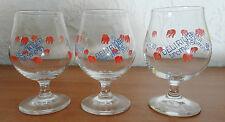 3 DELIRIUM TREMENS BELGIUM BEER GLASSES 0.25L Dancing Pink Elephants Barware