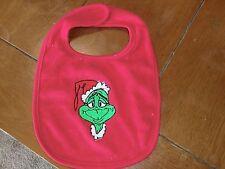 Embroidered Baby Bib - The Grinch - Red Bib