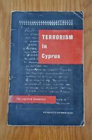 Vintage 1956 Paperback Booklet Terrorism In Cyprus: The Captured Documents HMSO
