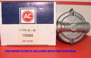1956 Chevrolet All V8 Engines AC Glass Filter Housing AC #GF48 GM # 854444