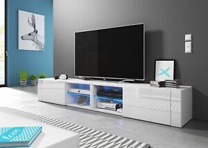 HIT2 double 200 cm Sideboard Lowboard TV Fernsehschrank inkl LED Highboard