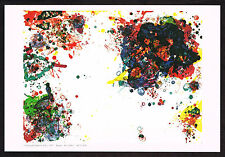 1970s Vintage Sam Francis Abstract Expressionist Art Miniature Print