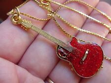 (M-303-C) Pick 1 of 4 colors OVATION Round back GUITAR PENDANT necklace jewelry
