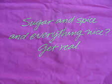 VINTAGE VIRGINIA SLIMS SUGAR AND SPICE AND EVERYTHING NICE? T-SHIRT (PINK COLOR)