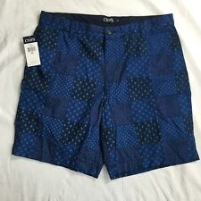 Chaps Shorts Mens Size 36 Royal Blue Flat Front Cotton Casual NWT
