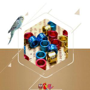50X 3~8mm Aluminium alloy Closed-loop Bird Leg Bands Parrot Canary Color-random