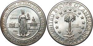 1936-D Columbia Sesquicentennial Commemorative Half Dollar ~ BU ~ Silver ~ CC07