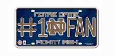 NOTRE DAME FIGHTIN' IRISH #1 FAN CAR AUTO METAL LICENSE PLATE NCAA