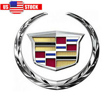 "New Cadillac Front Grille 6"" Emblem Hood Badge Logo Grille Front Chrome Color"