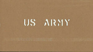 "Marsh CUSTOM MADE Oil board Stencil US ARMY 1/2"""