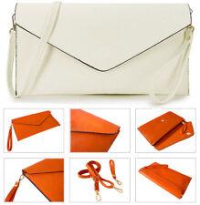 White Oversize Clutch Bag Purse Large Envelope Evening Wedding Bridal Prom Strap