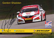 Gordon Shedden Hand Signed British Touring Cars Promo Card.
