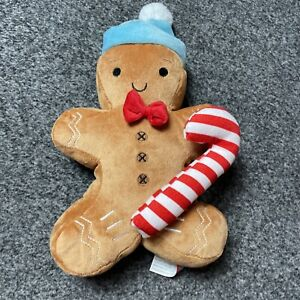 P9 Plush Soft Toy Teddy Christmas Gingerbread Man Candy Cane