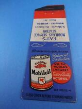 MOBIL OIL MOTOR OIL FAT'S MOBIL GAS SERVICE STATION MAIN ST DOYLESTOWN MATCHBOOK