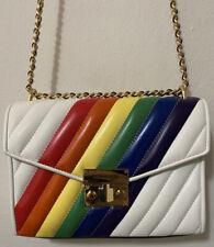 Authentic Michael Kors Quilted Vegan Leather Rainbow Pride Shoulder Flap Bag