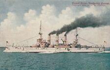 Postcard Military United States Battleship USS Kansas Unposted c1906