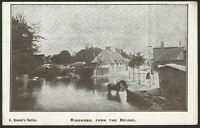 Ringwood, Hampshire. Ringwood From The Bridge. Vintage Postcard by C. Brown