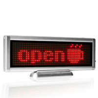 "8.6 x 3"" LED Car Sign USB Charging Programmable Scrolling Message Display Board"