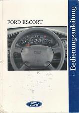 FORD ESCORT CABRIO Betriebsanleitung 1996 Bedienungsanleitung Handbuch MK7  BA