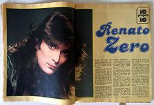 RENATO ZERO ● Rara RIVISTA / FUMETTO 1978 ● IL MONELLO ● Anna OXA Alan SORRENTI