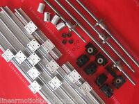 3 SBR16 linear rail ballscrew 1605-381/1400/1400/1400mm+BK/BF12 end bearing CNC