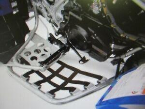 """QUADRAX  REPLACEMENT NERF BAR SET - SILVER 1 1/2"""" STEEL + BLK - KAWASAKI KFX700"""