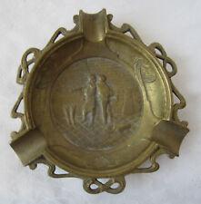 Antique  bronze / brass  ornate  ashtray