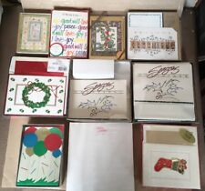 Brand New Vintage Christmas Holiday Greeting Cards 144 Total Mix + Letter Paper