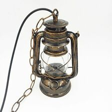 Rustic Searchlight Miners Light Lantern Ceiling Pendant Fitting Antique Kerosene