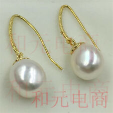 10-13MM HUGE baroque pearl earrings 18K gold plating Gold hooks south sea earbob
