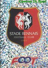 301 ECUSSON LOGO BADGE FRANCE STADE RENNAIS.FC STICKER FOOT 2005 PANINI