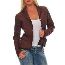 Manteaux et vestes marron en cuir pour femme taille 40