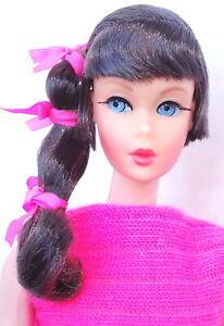 Stunning Vintage Dark Brunette Talking Barbie Doll MINT