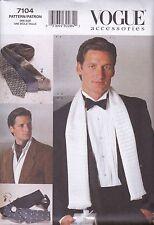 Vogue Para Hombre Accesorios Costura patrón pajarita Cummerbund lazos v7104