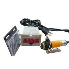 6 Digital LED Counter 100-240VAC+Photoelectric Sensor Automatic Conveyor Belting