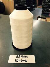 Bonded Nylon Thread 33 White 8oz spool