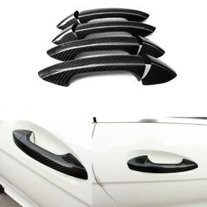 Door Handle Cover Trim Carbon Fiber Refit For Benz A/B/C/E/S Class 4Door 8PCS